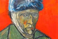 1. Hans-Peter Melcher nach Vincent van Gogh: Selbstbildnis mit Pelzmütze und verbundenem Ohr (1889)