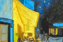 2. Hans-Peter Melcher nach Vincent van Gogh: Caféterrasse am Abend (1888)