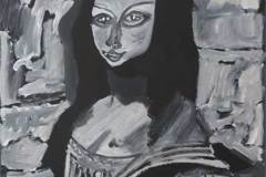 9. Marcel Pissoke nach Leonardo da Vinci: Mona Lisa (1503 - 1506)