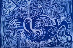 3. Chris Vinetas, Linolschnitt