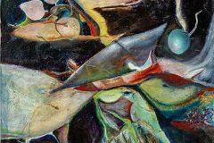 """1. """"Unter Wasser"""", Öl auf Leinwand, 70 x 50 cm, 2016"""