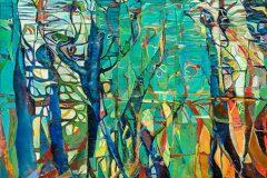 11. ohne Titel, Öl auf Leinwand, 80 x 100 cm, 2018