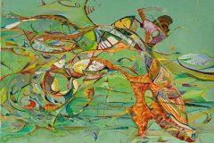 12. ohne Titel, Öl auf Leinwand, 50 x 70cm, 2 017