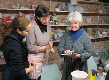 In der Keramikwerkstatt